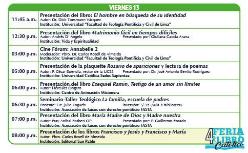 Feria libro catolico viernes 13