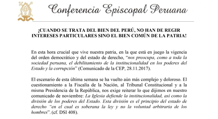 Conferencia episcopal peruana comunicado
